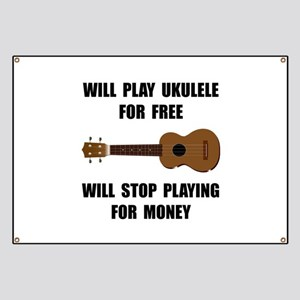 Ukulele Playing Banner